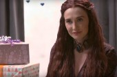 Game of Thrones' Melisandre Attends a Baby Shower With Seth Meyers