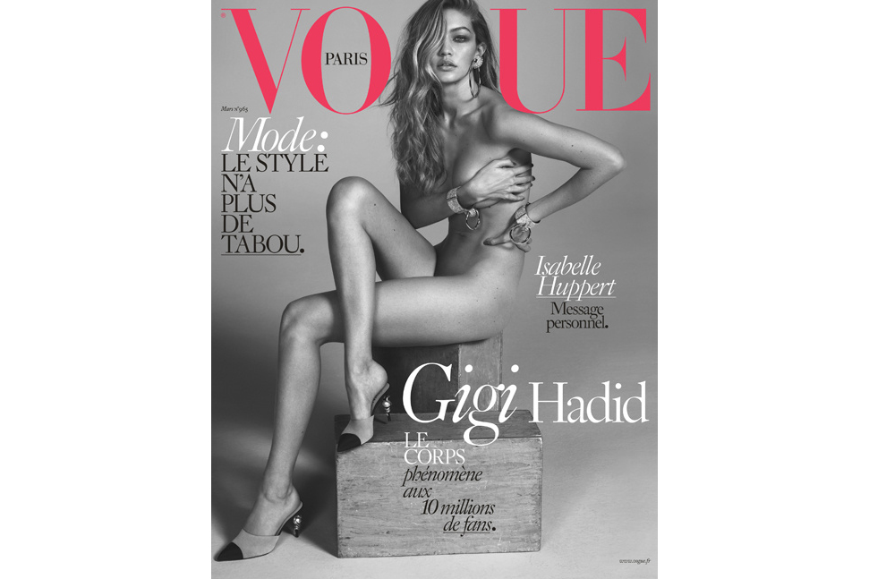 Gigi Hadid Poses Nude for the Cover of French 'Vogue'