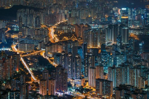 These Photos of Hong Kong at Night Look Like a Sci-Fi Set