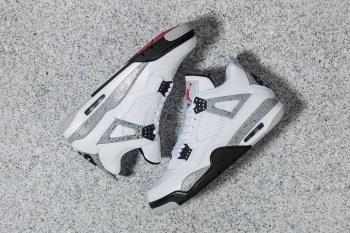 """A Closer Look at the Air Jordan 4 """"White Cement"""""""