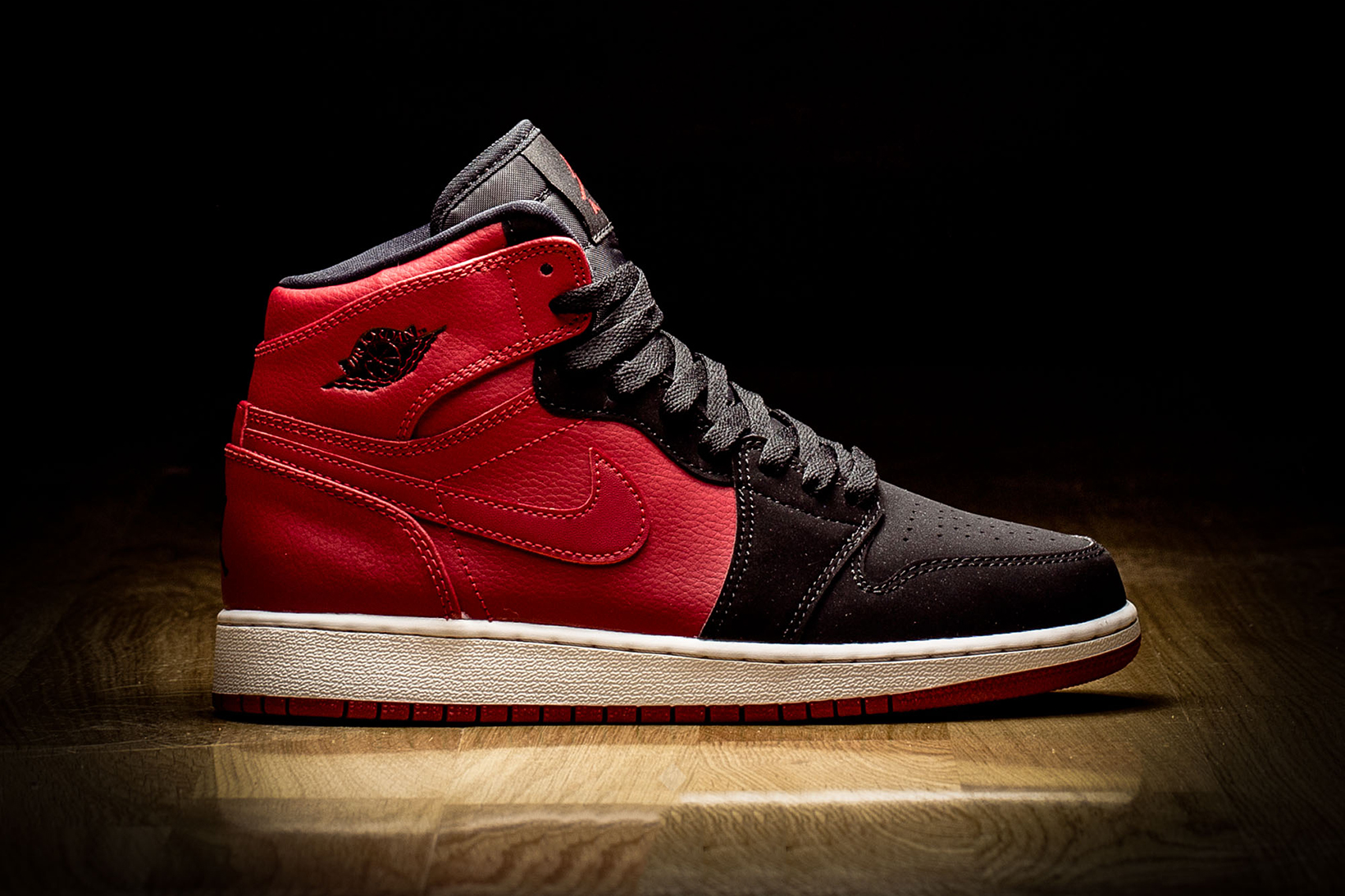 "Jordan Brand Puts a Twist on its GS Edition of the ""Bred"" Air Jordan 1"