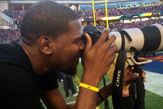 Kevin Durant Goes Behind the Camera at Super Bowl 50