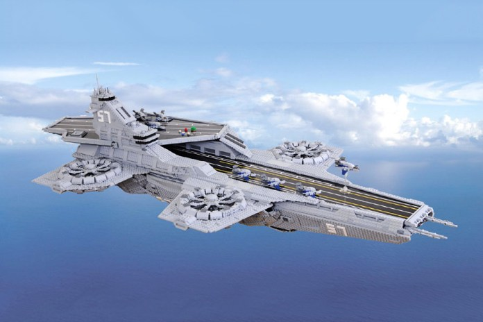 A Group of LEGO Fans Created a Gigantic Custom S.H.I.E.L.D. Helicarrier