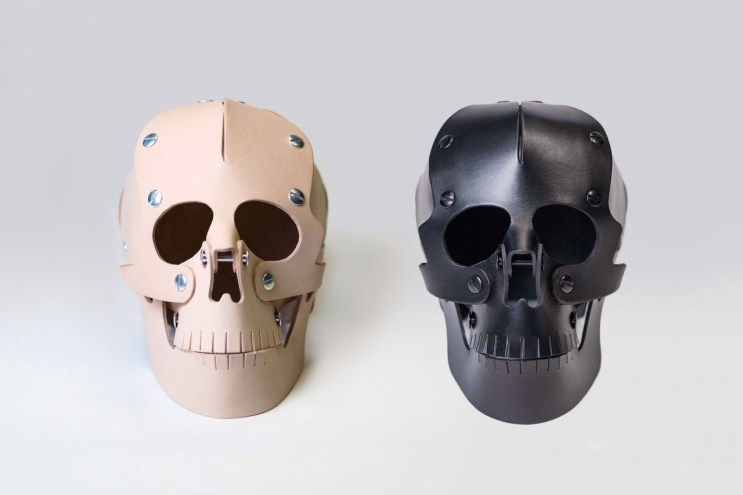 Handcrafted Memento Mori Leather Skulls by Heavy Eyes