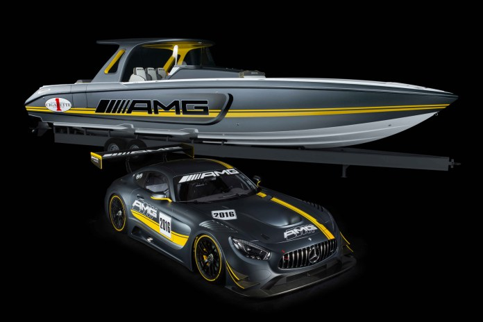 Check out This Mercedes AMG GT3-Inspired Racing Boat