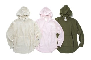 monkey time x Champion Garment Dyed Reverse Weave Hoodie