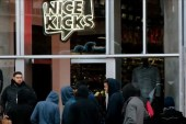 San Francisco Fans Line up for the adidas NMD x Nice Kicks Grand Opening