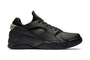 Nike's Low-Top Air Flight Huarache Returns in a New Black Colorway