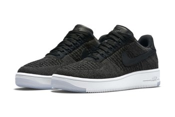 Black Low-Top Nike Air Force 1 Flyknits Are Coming