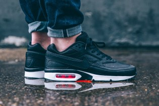 Nike Air Max BW Premium Black/Bright Crimson-Wolf Grey