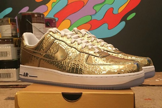 Nike Made These Gold Air Force 1s for Super Bowl 50
