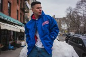 Packer x Starter New York Giants Parka Modeled by Shawn Powers