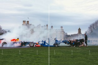 Watch a Rugby Club Scrum With a Formula One Race Car