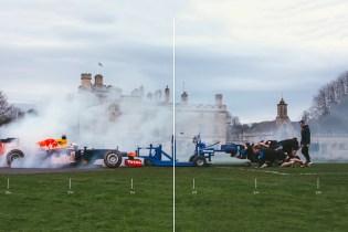 Watch a Rugby Club Scrum With a Formula One Race Car