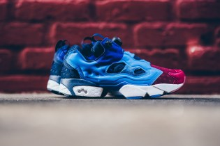 Reebok Gives the Instapump Fury an Asymmetrical Burgundy/Blue Sport Combo
