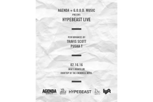 Travis Scott & Pusha T Perform at HYPEBEAST LIVE Presented by G.O.O.D. Music & Agenda