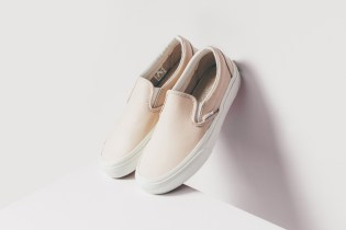 "Vans Goes Premium with Its Leather Slip-On ""Whispering Pink/Blanc de Blanc"""