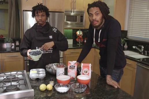 Waka Flocka Flame & Raury Teach Us How to Make a Vegan Blueberry Muffin