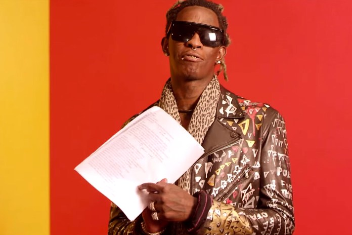 """Young Thug Recites the Lyrics to One of His Most Popular Tracks, """"Best Friend"""""""