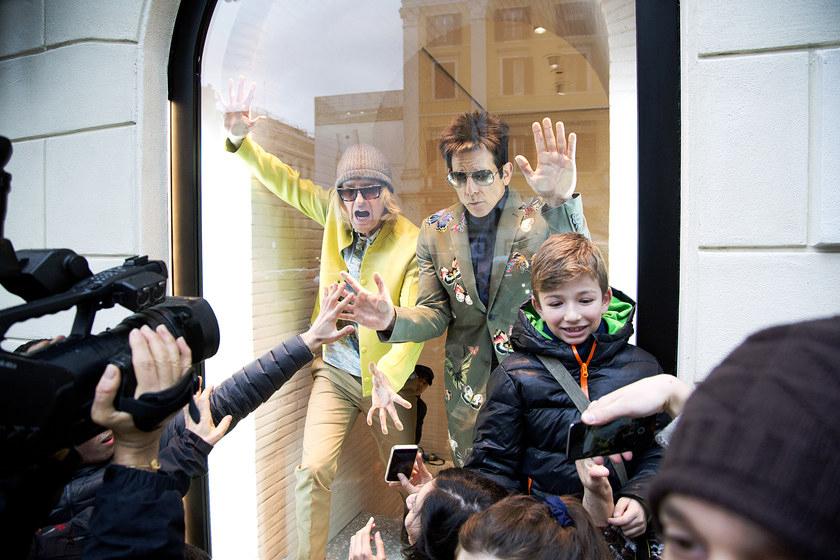 Ben Stiller & Owen Wilson Pose as Mannequins in a Valentino Store Window