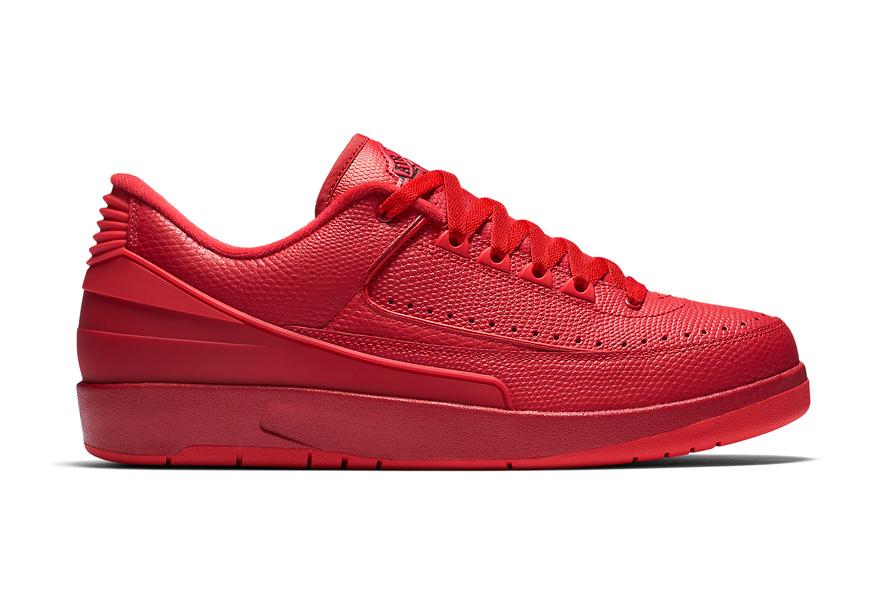 """Air Jordan 2 Low Arrives in a Striking """"Gym Red"""""""