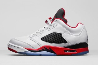 "An Official Look at the Air Jordan 5 Retro Low ""Fire Red"""
