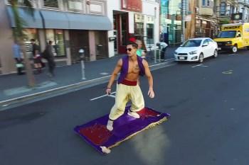 Aladdin and His Slick Magic Carpet Hit the Streets of San Francisco