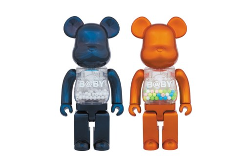 MY FIRST BE@RBRICK B@BY by Chiaki Kuriyama in Pearl Navy & Pearl Orange