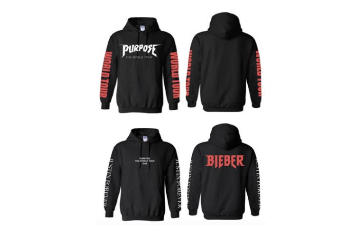 Justin Bieber Reveals Vetements-Inspired 'Purpose' Tour Merch