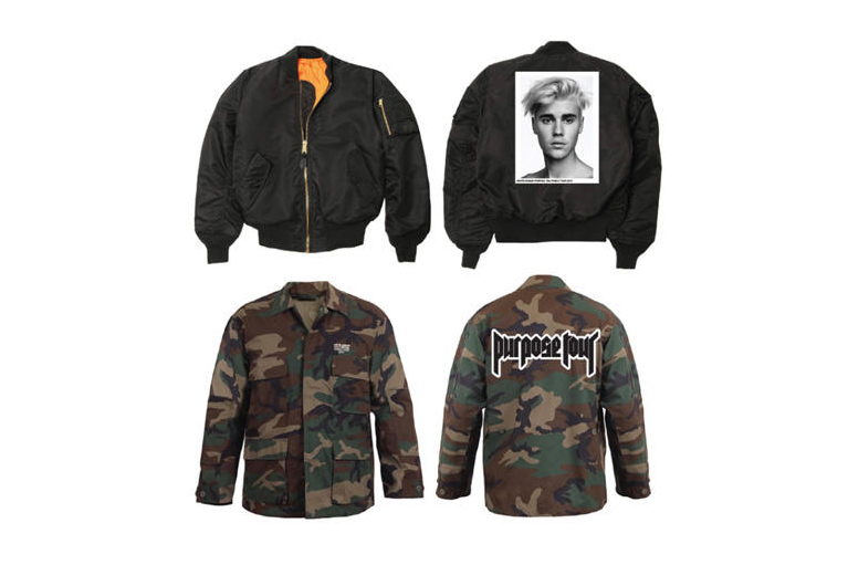 justin bieber purpose tour merch hypebeast. Black Bedroom Furniture Sets. Home Design Ideas