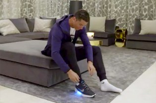 Watch Cristiano Ronaldo Try Nike's New HyperAdapt 1.0 Power-Lacing Sneakers