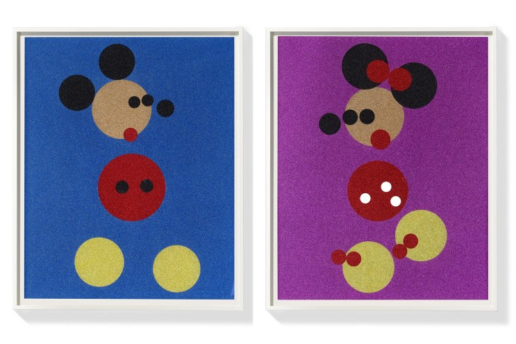 Damien Hirst 'Mickey' & 'Minnie' Prints