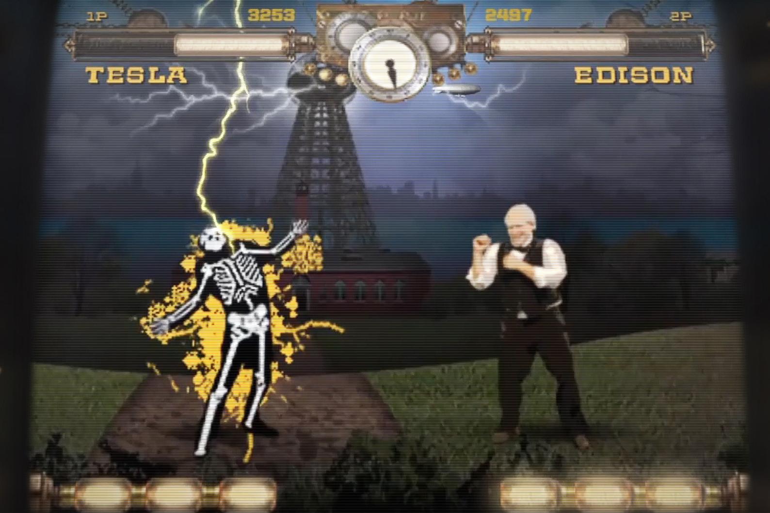 Arcade Game Pits Thomas Edison Against Nikola Tesla, Lets Players Electrocute Each Other
