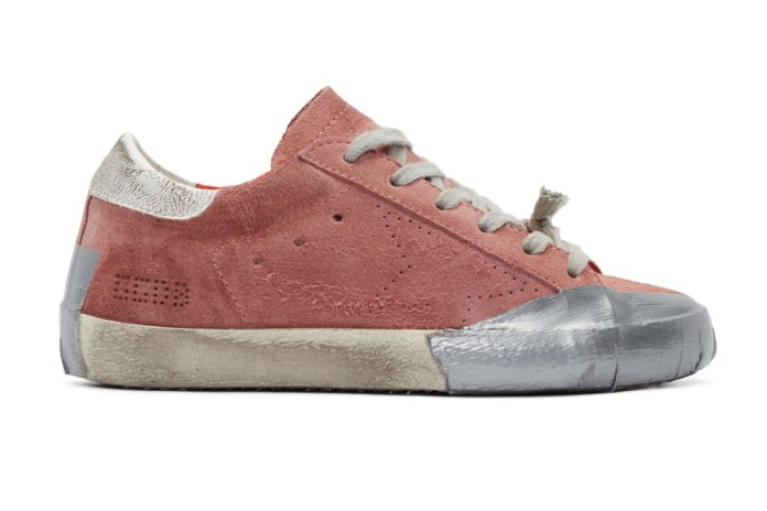 Golden Goose Pink Suede Skate Superstar Sneakers