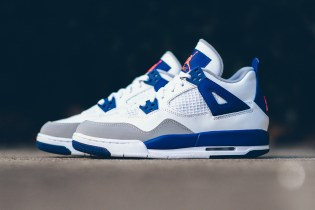 #hypebeastkids: Air Jordan 4 Retro GG White/Hyper Orange-Deep Royal Blue-Wolf Grey