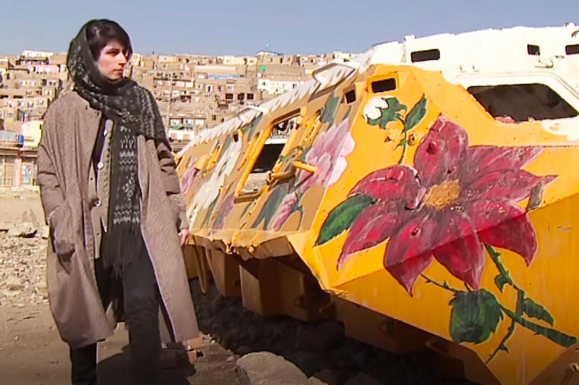 Iranian Woman Transforms War Machines Into Positive Art Pieces