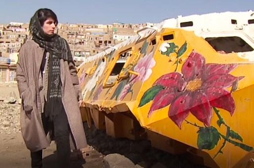 Iranian Woman Transforms War Machines Into Positive Art Pieces