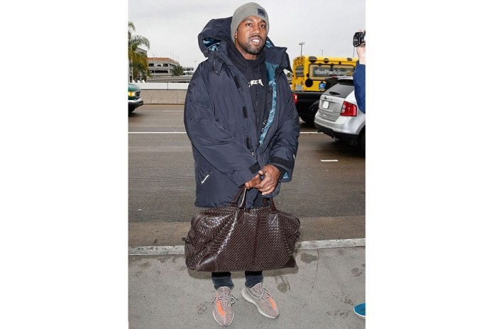 Kanye Spotted Wearing New Yeezy Boosts at LAX Airport