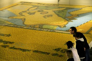 Artist Creates Massive Pikachu Mosaic From 13,000 Pokémon Trading Cards