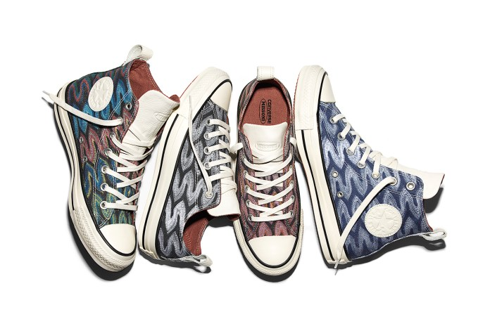 Converse & Missoni Employ Bold Zigzags as They Reunite for Spring