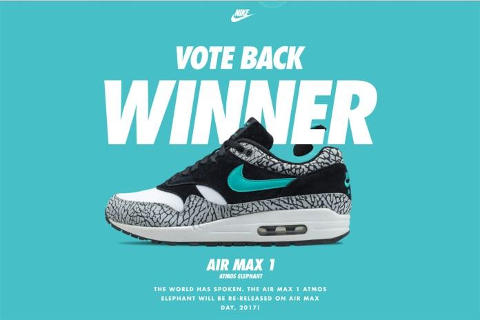 "atmos x Nike Air Max 1 ""Elephant"" Wins the Nike Vote Back"