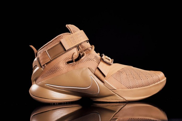 """A First Look at the Nike LeBron Zoom Soldier 9 """"Wheat"""""""