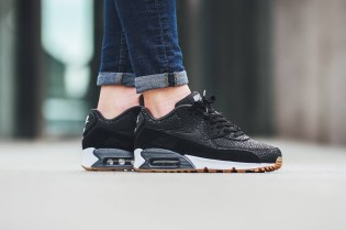 "Nike Reworks the WMNS Air Max 90 in a Premium ""Black-White"" Colorway"