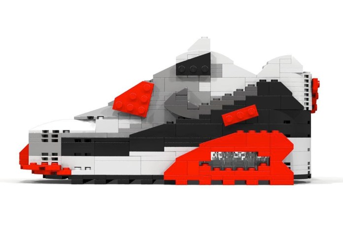 """Nike's Air Max 90 """"Infrared"""" Gets Remade in LEGO"""