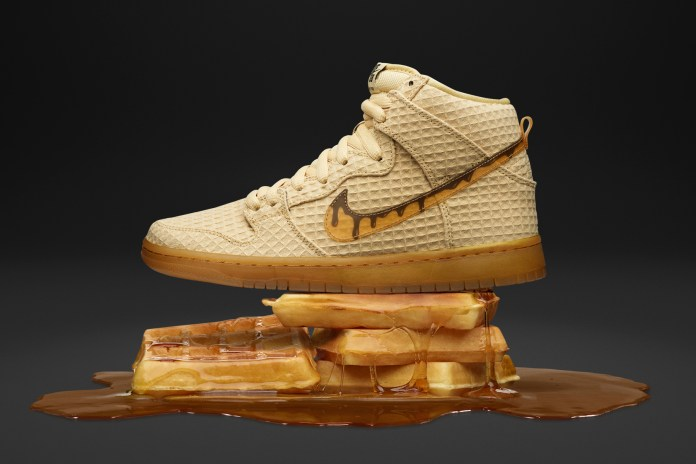 "Nike's SB Dunk High Gets a Buttery ""Chicken and Waffles"" Colorway"