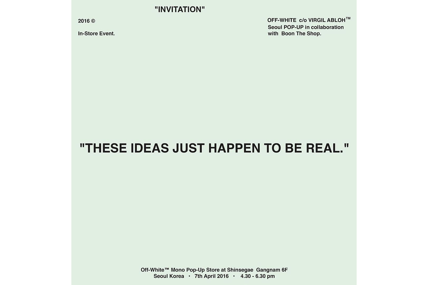 Virgil Abloh is Opening a Special OFF WHITE Pop Up at ...