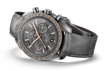 """OMEGA Unveils a """"Meteorite"""" Edition of the Speedmaster"""