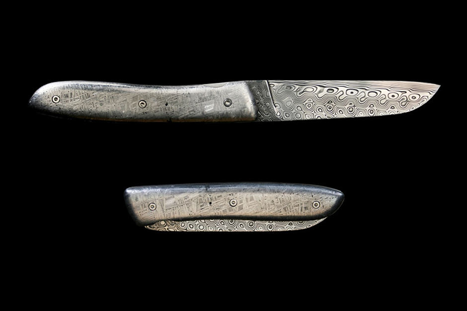 A Pocket Knife Carved From a Meteorite