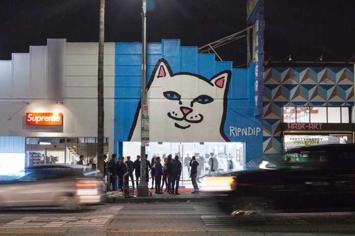 RIPNDIP's Extraterrestrial Pop-up Beside Supreme on Los Angeles's Fairfax Avenue