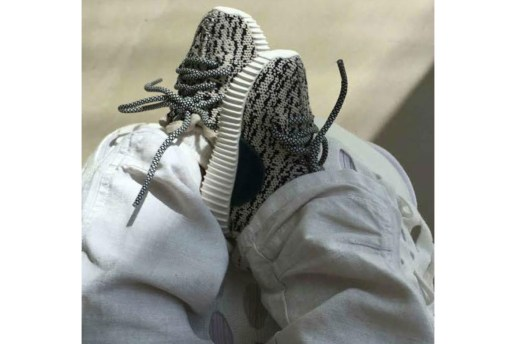 Saint West Laces up in Baby Yeezys for Easter